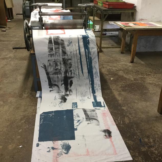 Serie: Raum für Menschen, Siebdruck, 2018