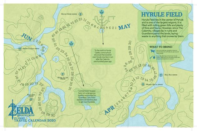 Zelda Seasonal Travel Calendar-Spring