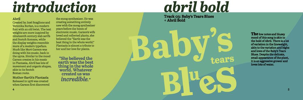 Type Specimen Book - Abril