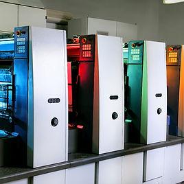Printing presses at work in the printing