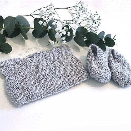 Kit tricot gris
