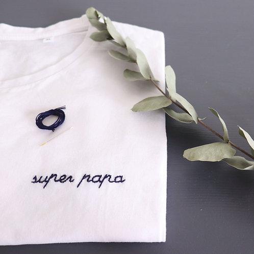 Kit tee-shirt papa - blanc