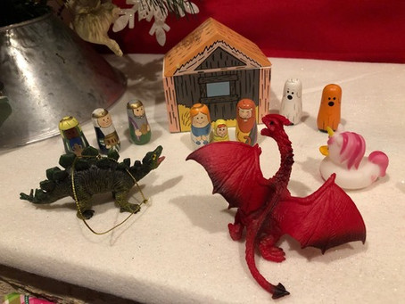 A Dragon, a Unicorn, and a Dinosaur (a very short story)