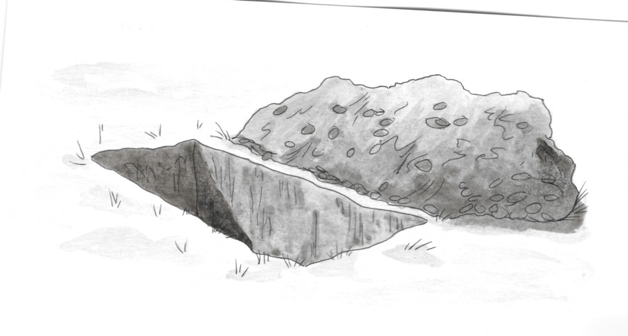 Digging a cist (type of grave)