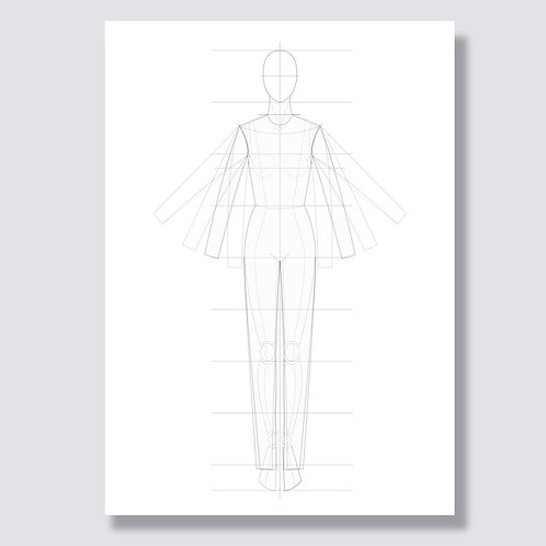 """Figure template"" PDF file for flat sketches"