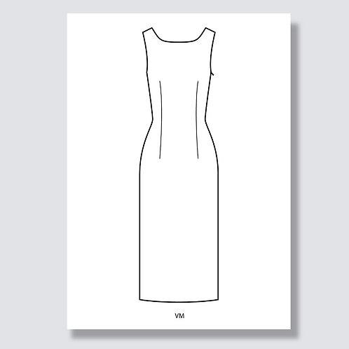 """""""Sheath dress"""" (Etuikleid), Ai file (Adobe Illustrator)"""