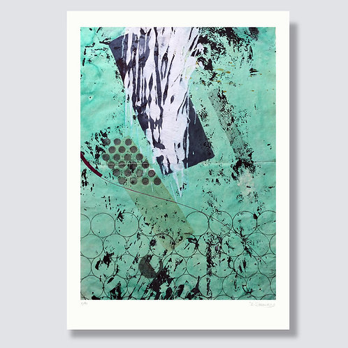 """Abstraction with objects 4"" 42 x 29,7 cm, Giclée print on fine art paper"