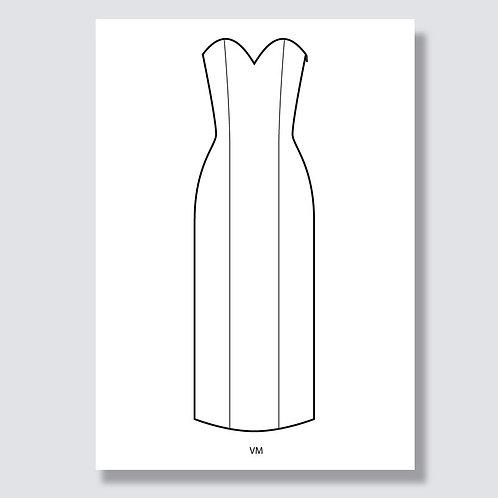 """Corsage dress"" (Corsagenkleid) Ai file (Adobe Illustrator)"