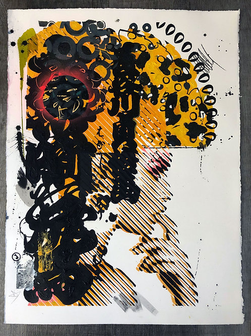 Punk 3 - 76x56cm, mixed media on paper