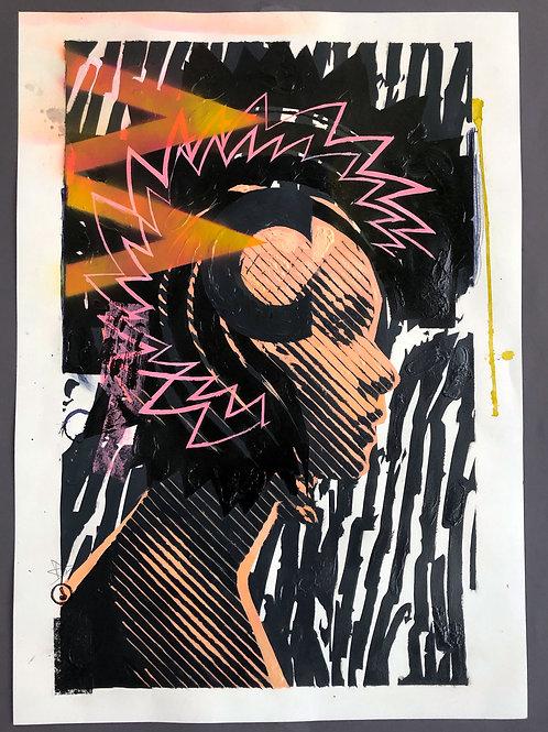 """Punk"" 70x50cm, mixed media on paper"
