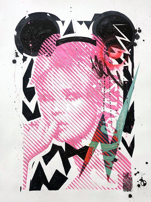 Kate Moss 76x56cm, mixed media on paper