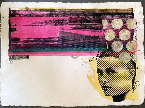 "Original work ""Grace Kelly 4"" 55x75cm, mixed media on paper"