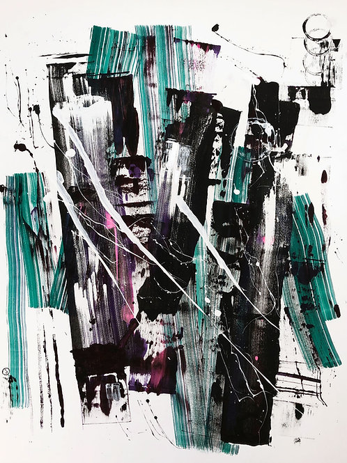 """Abstraction 203"" 130x100cm, acrylic on canvas"