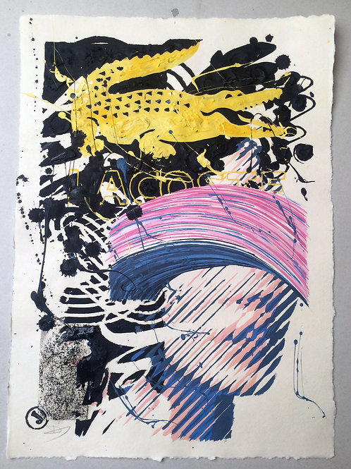 """Poetry 1"" 42x30cm, mixed media on paper"