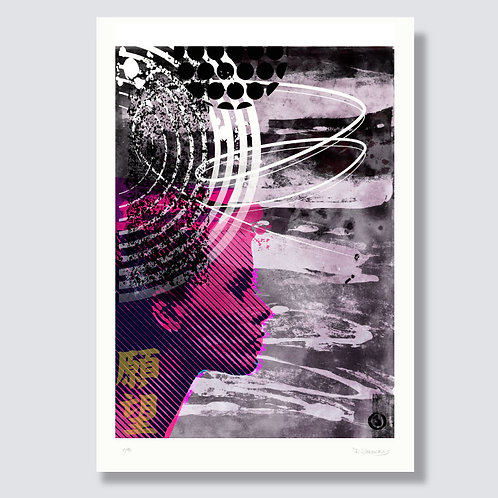 """Red sun 1"" Format 59,4 x 42 cm, Print"