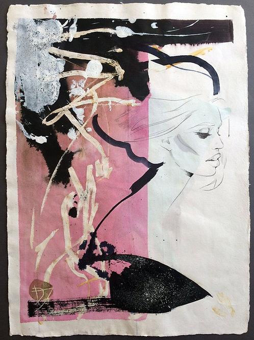 "Original work ""Melissa"" 75x55cm, mixed media on paper"