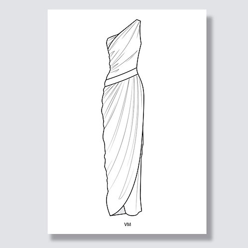 """Toga dress"" (Togakleid) Ai file (Adobe Illustrator)"