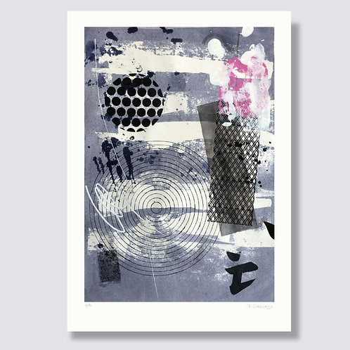 """Abstraction with objects 15"" 42 x 29,7 cm, Giclée print on fine art pap"