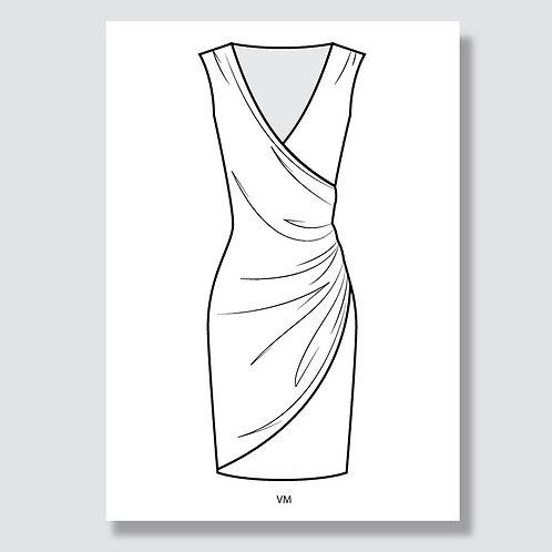 """Wrap dress"" (Wickelkleid) Ai file (Adobe Illustrator)"