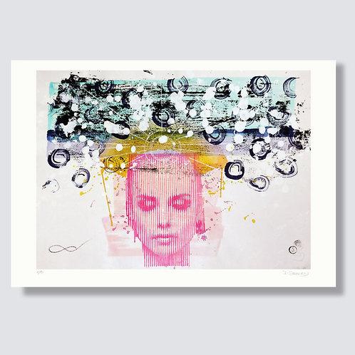 """Meditation 4"" Format 59,4 x 42 cm, Giclée print"