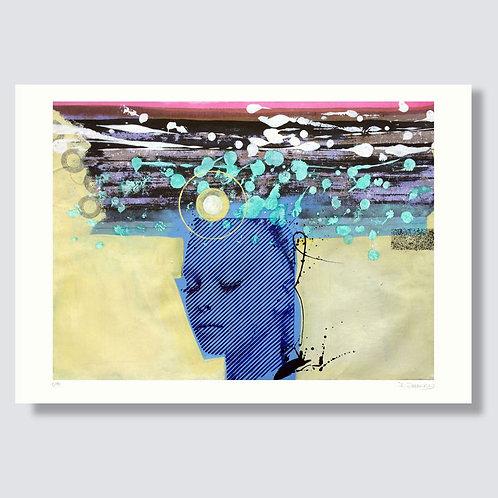 """Blue 2"" 42 x 29,7 cm, Giclée print"
