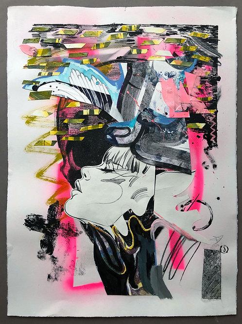 Dream 4 - 76x56cm, mixed media on paper