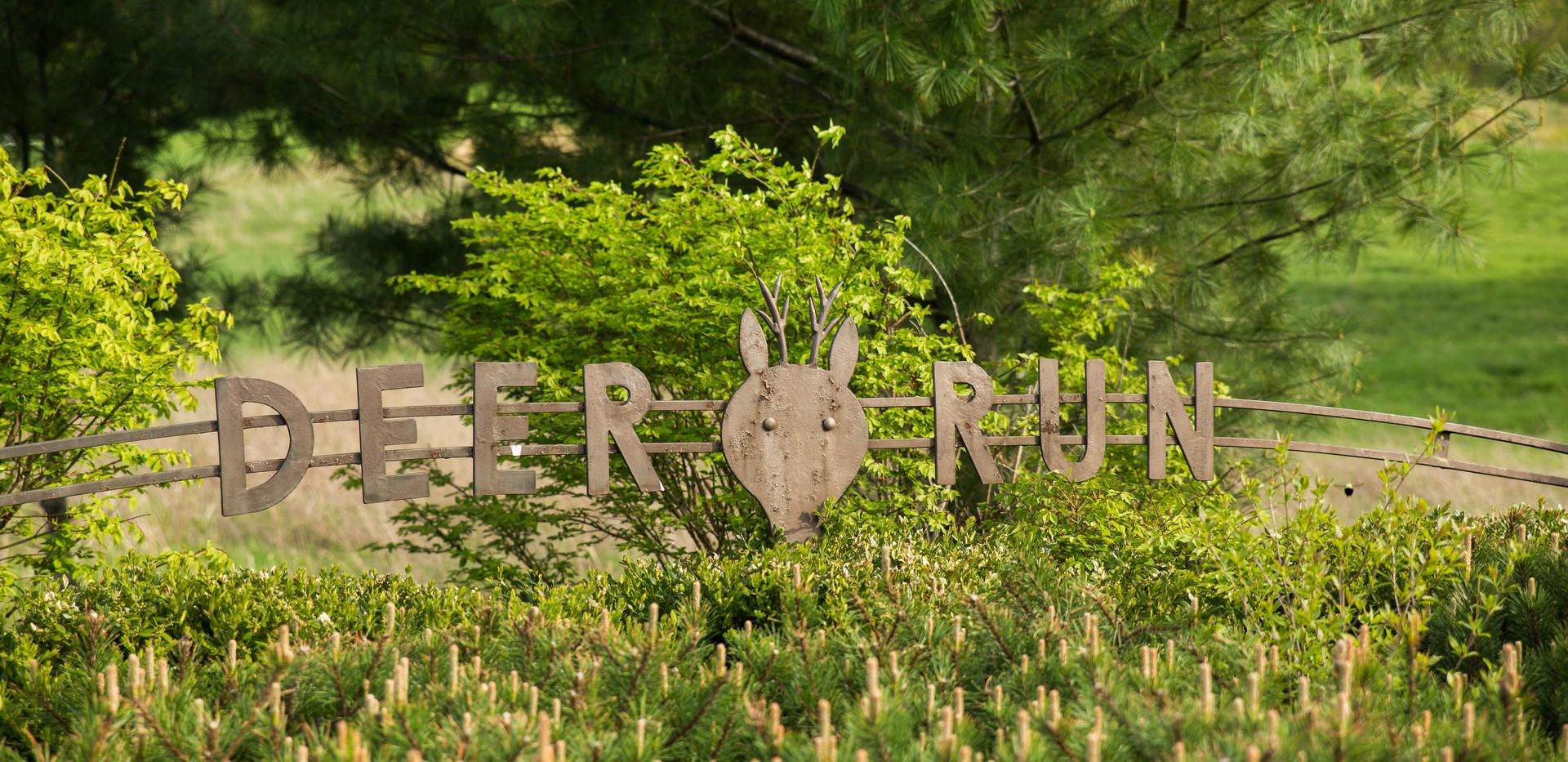 Iron Deer Run Sign