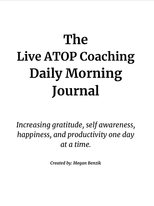 The Live ATOP Coaching Morning Journal