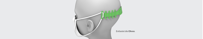 KOMFOHR Maskenhalter entlastet die Ohren