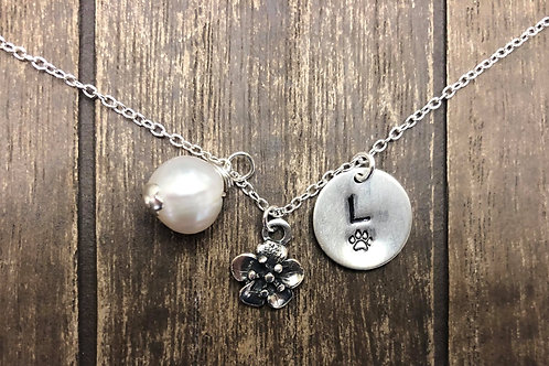 Dog Mom necklace, Pet Memorial Necklace Pendant. 925 Sterling Silver