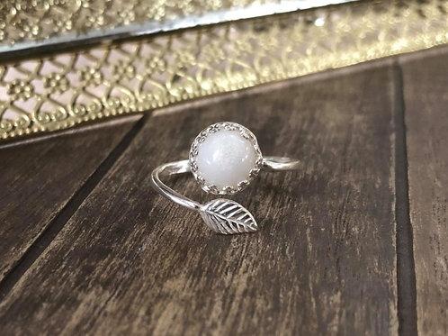 Lovely Leaf Ring 925 Sterling Silver