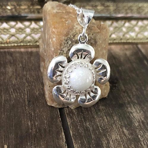 Sweet Flower Pendant 925 Sterling Silver