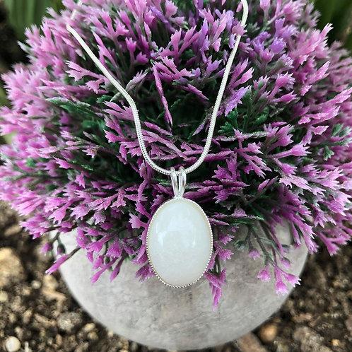 Classy Oval Breastmilk Pendant 925 Sterling Silver