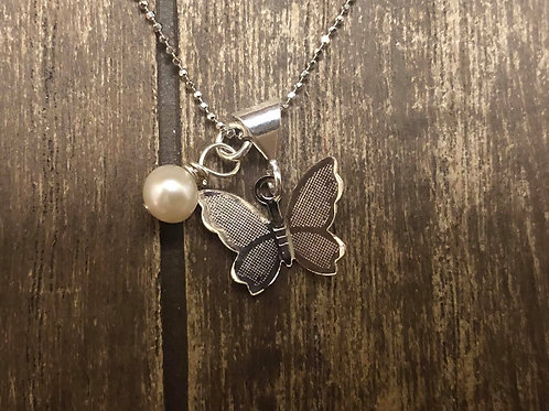 Dainty and Elegant Butterfly Pendant,925 Sterling Silver.
