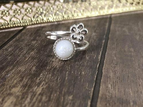 Sweet Flower Ring, 925 Sterling Silver