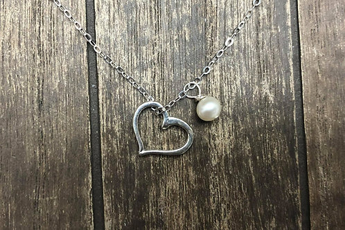 Dainty and Elegant Heart Pendant,925 Sterling Silver.
