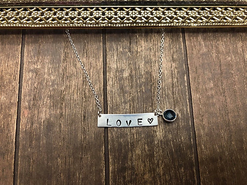 Personalized Bar Necklace, 925 Sterling Silver