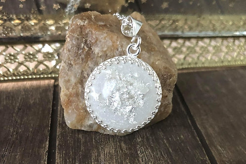 Classy Round Breastmilk Pendant 925 Sterling Silver