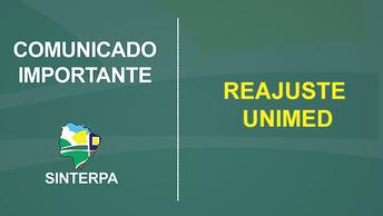 Comunicado do Sinterpa sobre reajuste anual da Unimed