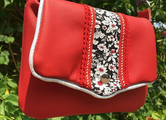 Mini sac «red flower»