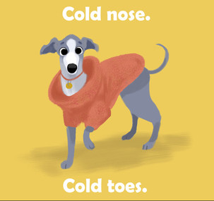 Cold Nose, Cold Toes illustration by Christina Brown