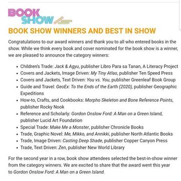 Book award for Lynnor Bontigao's book