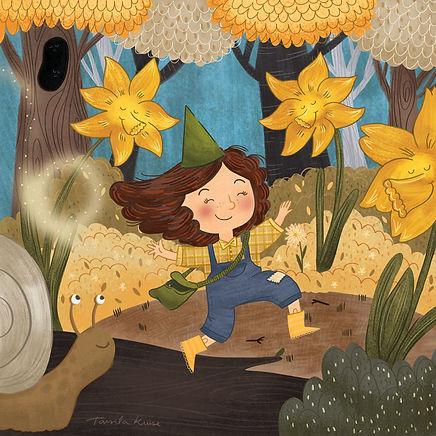 TarsilaKruse_daffodils_fairy_elf_snail_s