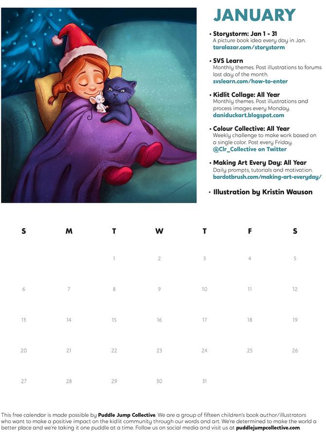 FREE!  - Kidlit Calendar