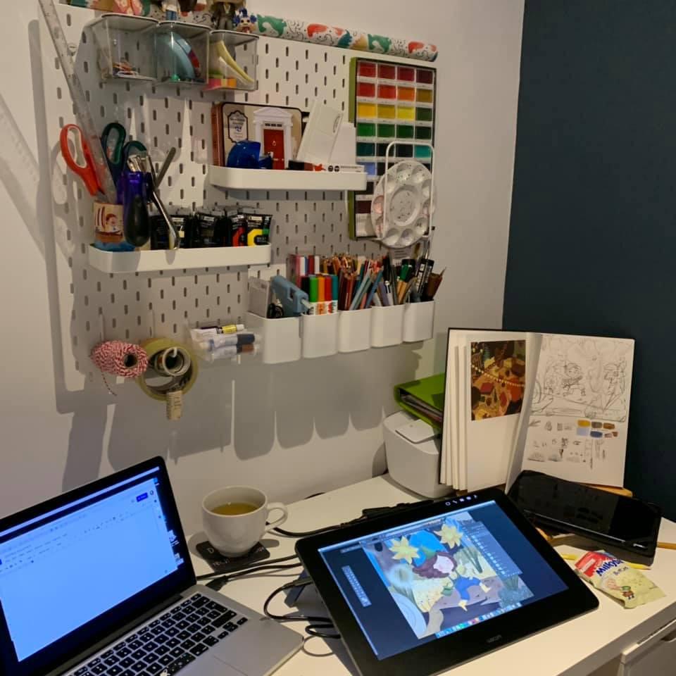 Tarsila's studio