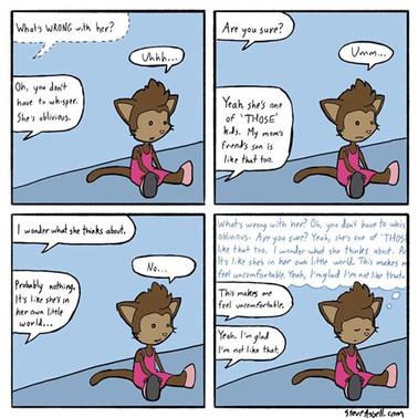 Stimmy Kitty comic by Steve Asbell