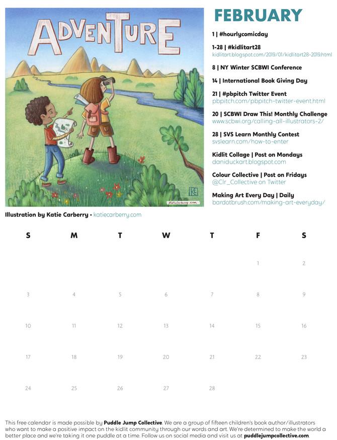 FREE - FEBRUARY Kitlit Calendar