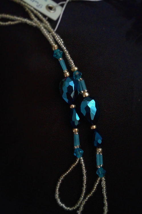 Silver and Blue Crystal Raphsody - S