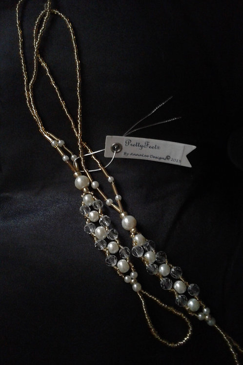 Crystal and Pearls - Gold - M