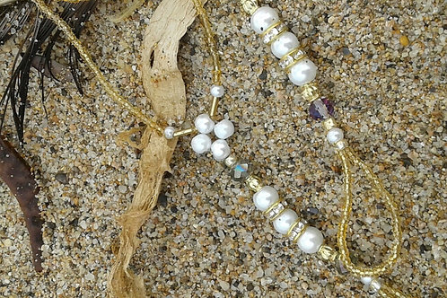 Golden Pearls and Diamonds